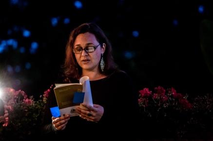 Jessica Hiemstra at The Tartan Turban Secret Readings. Photo by Tanvi Madkaiker.