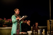 Karen Connelly at The Tartan Turban Secret Readings. Photo by Tanvi Madkaiker.