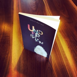 A photograph of the book Understan by Gavin Barrett on a wood tabletop